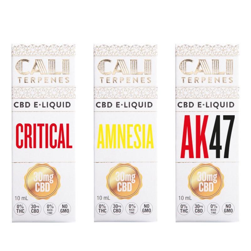 Pack CBD e-liquid Top EU 1 - 30mg - Cali Terpenes