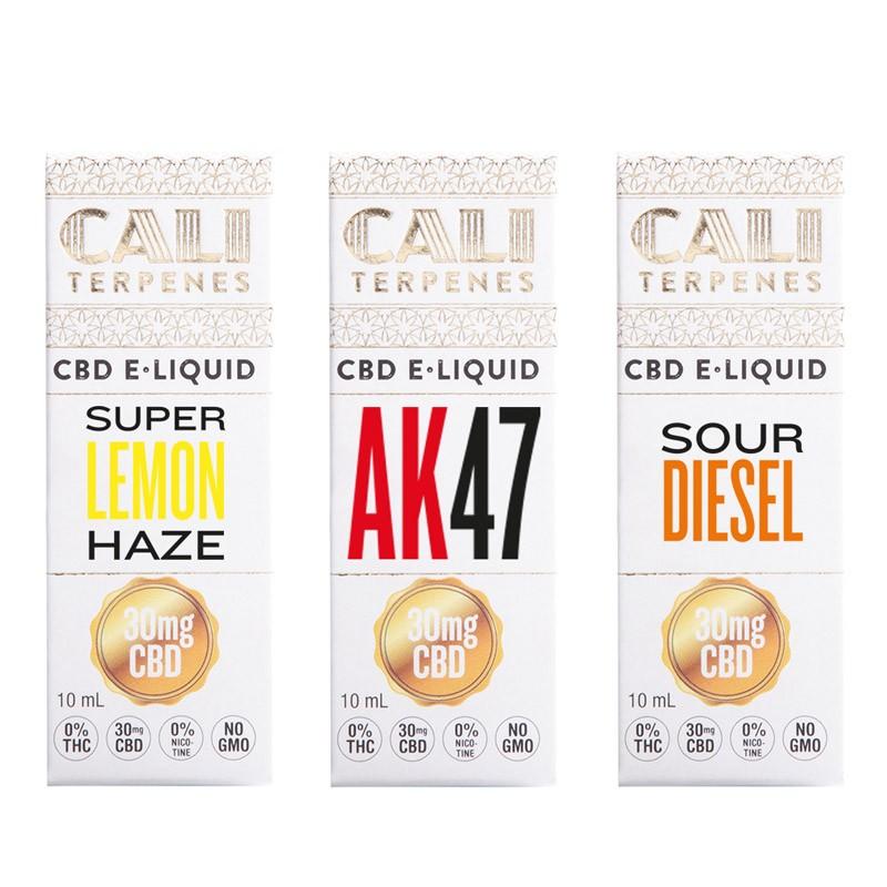 Pack CBD e-liquid Sativa 2 - 30mg - Cali Terpenes