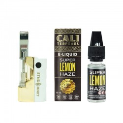 Pack Oil Pen Mini White Gold + Super Lemon Haze eliquid