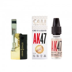Oil Pen Mini Black Gold + eliquid AK 47 30mg CBD