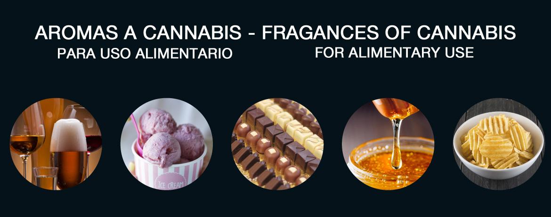 Aromas cannabis alimentario